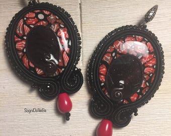 """Earrings at soutache """"Granada"""""""