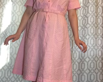 Beautiful 50's Pink Gingham Dress