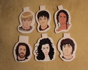 Merlin Character/Quote Magnetic Bookmarks Set #1