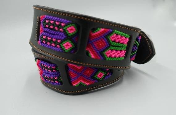 Woven Macrame Leather Belt SZ 32