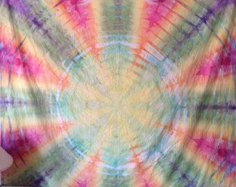 Rainbow Radiowave Tie Dye Tapestry