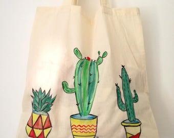 Cactus flower Beach Tote Shopping Bag Handbag own cactus collection