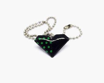 Necklace, Origami necklace, heart necklace, origami accessories, paper jewelry, resine jewelry, unique jewelry, paper necklace, jewelry