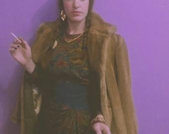 stellar 50s vegan faux mink fur jacket