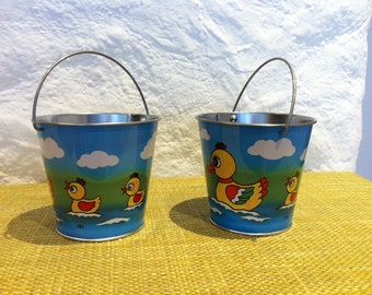 Vintage W. Germany Tin toy, 2 buckets top state of Tin toys