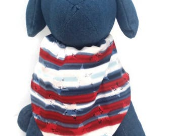 American paw scarf- 4th of July- red -white and blue-dog bandanna