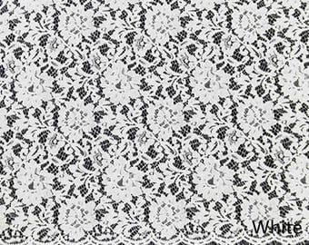 Flower Eyelash Lace Fabric Lace Trim 59.05 Inches Wide 1.64 Yards/ Craft Supplies, WL1427