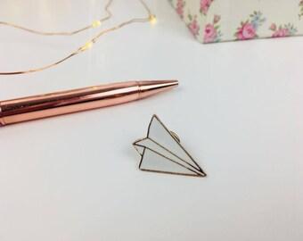 Paper Plane Enamel Pin
