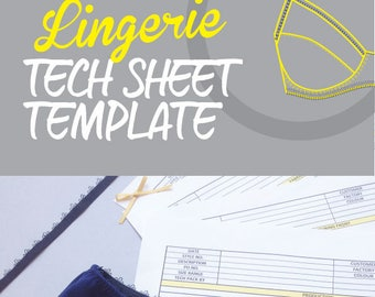 Tech Sheet Template for Bras and Briefs