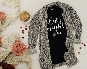 Date Night In Short Sleeve Relax Fit Womens Tee