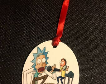 Mr. Meekseeks Rick Morty Inspired Christmas Tree Ornament 2 Sided Can be Personalized NEW style 5