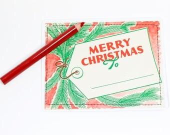 post card vintage | Christmas | handmade upcycled | gift tag