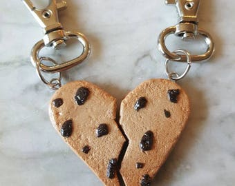 Best Friends Heart Cookie Keychain
