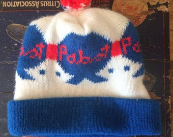 Vintage Pabst Blue Ribbon (PBR) Winter Knit Hat (Beanie)