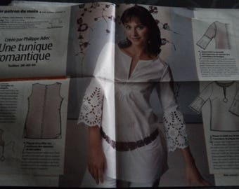 tunic pattern size 36-40-44 new uncut