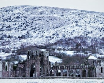 Llanthony Priory in the Snow