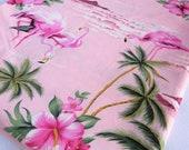 Tropical Fabric, Hawaiian Fabric, Flamingo Fabric, Pink Fabric, Palm Tree Fabric, fabric, Hibiscus Fabric, Island, Flamingo, Girls