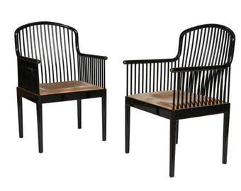 Knoll International   Stendig   Davis Allen  Josef Hoffman  Armchairs    Pair Side Chairs