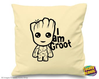Baby Groot - Cream Pillow/Cushion Cover - Baby Groot - Guardians of the Galaxy - I am Groot