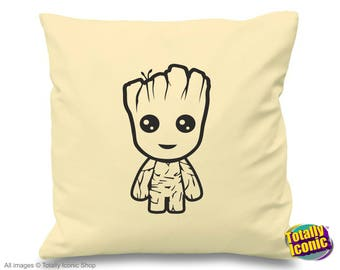 Baby Groot  - Cream Pillow/Cushion Cover - Baby Groot - Guardians of the Galaxy