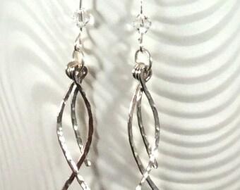 Sterling Silver Dangle Earrings Sterling Silver Earrings Silver Earrings Dangle Earrings Wedding Earrings Bridal Earrings