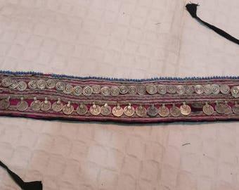 Vintage Afgani belly dancing belts, Banjara belly dancing belt, waist jewelry, hippie belt, Boho belt fusion