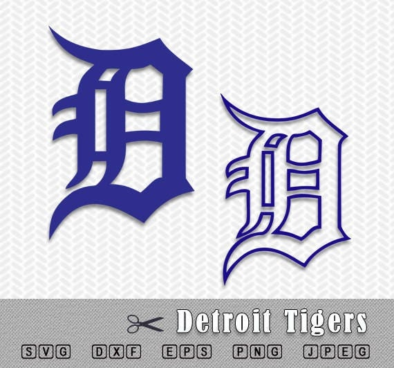 detroit tigers layered svg logo vector cut file silhouette