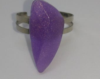 Customizable silver resin Adjustable ring
