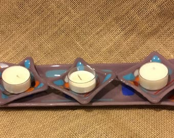 Glass sushi platter and saucers