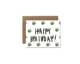 Agave Happy Birthday Greeting Card - A2