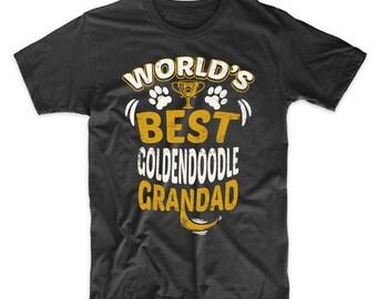 World's Best Goldendoodle Grandad Graphic T-Shirt