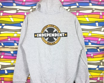 Rare!! INDEPENDENT Hooded Sweatshirt Big Logo Spellout