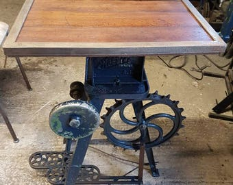 Unique industrial style side table