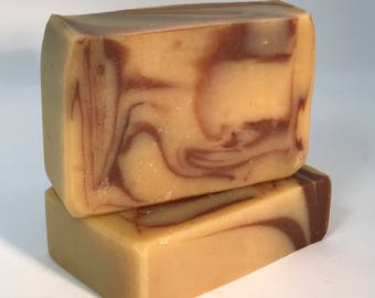 Clove Swirl Soap - Goats Milk Soap - Handmade - All  Natural - Essential Oils - Bath and Beauty -  Milk Soap