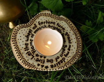 Wish candle ~ spell ~ ritual candle spell with Pentagram