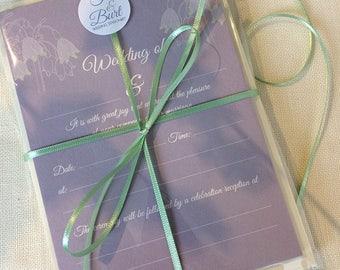 Winter Flowers Luxury pack of 10 Wedding Invitations