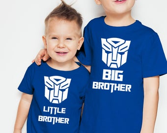 Transformers  inspired Big Brother and Little Brother t-shirts set.
