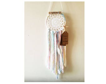 Dream Catcher, Personalised name Dreamcatcher, Boho Decor, Baby Gift, Mum to be present, white dreamcatcher, wall hanging, wedding decor