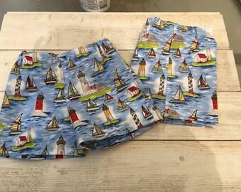 Baby Boy Elastic Waist Lighthouse Design Shorts
