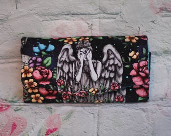 Weeping Angel Doctor Who Necessary Clutch Wallet wristlet