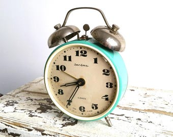 Large old alarm clock 'Jantaz' USSR