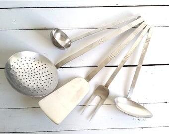 Retro kitchen utensil set 'Sola'