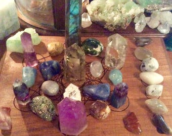 Customized Crystal Grid Design - Create a Custom Crystal Grid That is Yours Alone!