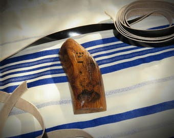 Mezuzah with the face of Maimonides Judaica