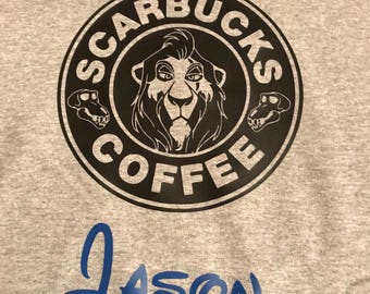 Disney Lion King starbucks Scar tank, shirt, or long sleeves