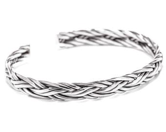 WINDALF Viking bangle SIGARD Ø 6.2 cm Arm jewelery handmade from 925 sterling silver