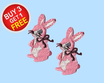 Rabbit Patches Iron On Embroidered Patches Iron-On Patch