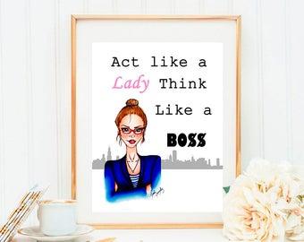 Fashion Illustration: Lady Boss