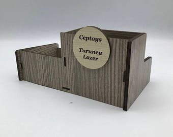 Laser Cut Personalized Penholder Table Organizer We Can Write Your Name Handmade  Organic Material