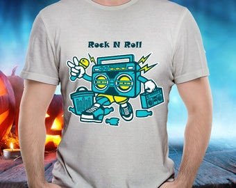 BOOMBOX TSHIRT! Musician Guitarist Drummer Singer Songwriter Cassette Tape Player Microphone Funny Tee is a Cool and Wearable Treasure Tee!